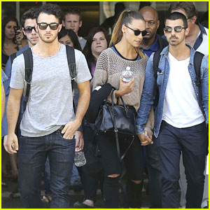 Jonas Brothers: LAX Arrival After Dallas Kidd Kraddick's Memorial Service