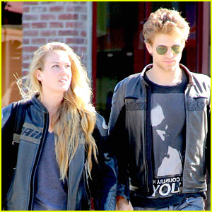 Keegan Allen & Girlfriend Chuck Grant Run Errands in Los Angeles