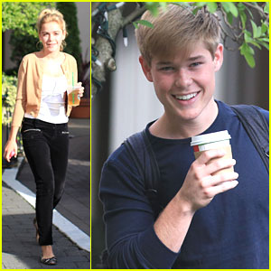 Kiernan Shipka & Mason Dye: Off To 'Flowers' Set