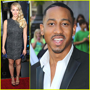 Leven Rambin & Brandon T. Jackson: 'Percy Jackson: Sea of Monsters' Premiere & Clip!
