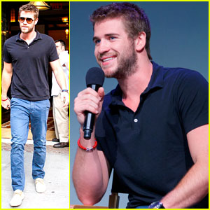 Liam Hemsworth Promotes 'Paranoia' at the Apple Store!