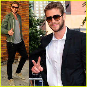 Liam Hemsworth Visits 'The Daily Show with Jon Stewart'