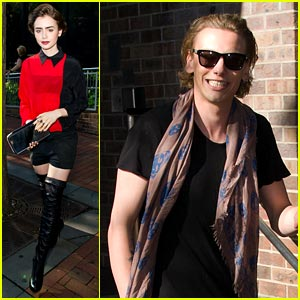 Lily Collins & Jamie Campbell Bower: 'Good Day' Duo!