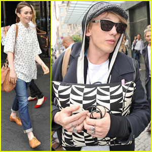 Lily Collins & Jamie Campbell Bower: Berlin Buddies!