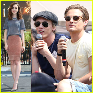 Lily Collins & Jamie Campbell Bower: 'Mortal Instruments' Meet & Greet