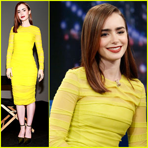 Lily Collins: 'Jimmy Fallon' & Apple Store Stops!