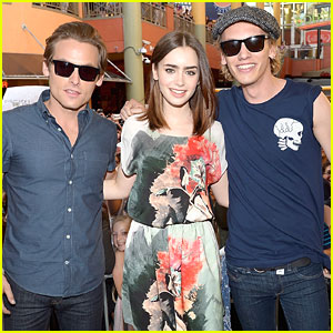 Lily Collins: 'Mortal Instruments' in Miami!