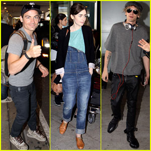 Lily Collins & 'Mortal Instruments' Cast Arrives in Toronto