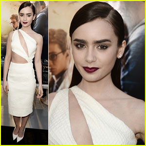 Lily Collins: 'Mortal Instruments: City of Bones' Premiere