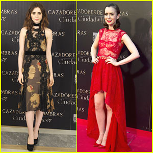 Lily Collins & Robert Sheehan: 'Mortal Instruments' Madrid Premiere & Photo Call