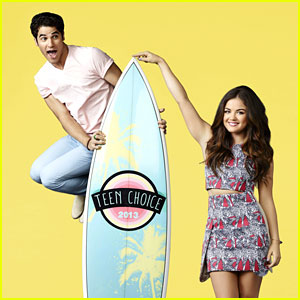 Lucy Hale & Darren Criss Chat Hosting the Teen Choice Awards 2013