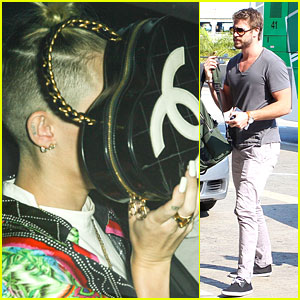 Miley Cyrus Takes Cover with Chanel; Liam Hemsworth Jets Out