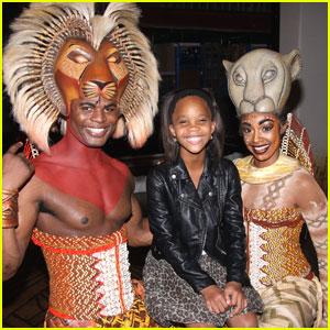 Quvenzhane Wallis: Backstage at 'The Lion King'