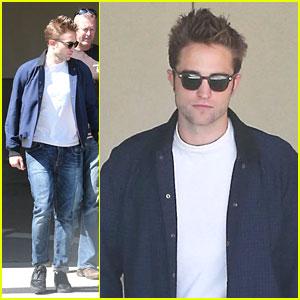 Robert Pattinson: Office Building Exit