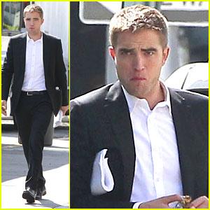 Robert Pattinson: Snacks on 'Maps To The Stars' Set