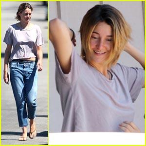 Shailene Woodley Steps Out after Short Hair Debut