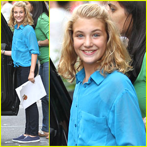 'The Book Thief's Sophie Nélisse Spotted in SoHo