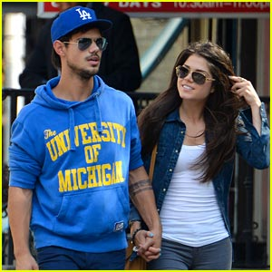 Taylor Lautner: Romantic Stroll with Marie Avgeropoulos!