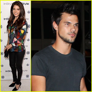 Taylor Lautner & Marie Avgeropoulos: Separate L.A. Outings
