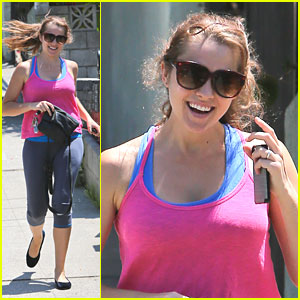 Teresa Palmer: Pilates Class After Engagement Announcement