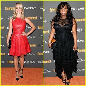 Amber Riley & Becca Tobin: EW's Emmy Party!