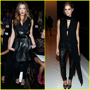 Ashley Greene & Katie Cassidy: Front Row at Kaufmanfranco Fashion Show