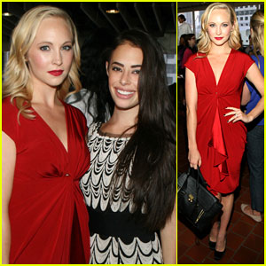 Candice Accola & Chloe Bridges: Catherine Malandrino Fashion Show