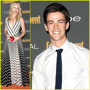Candice Accola: EW's Emmy Party with Grant Gustin