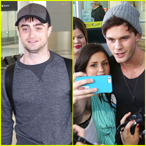 Daniel Radcliffe & Jeremy Irvine Arrive in Toronto Ahead of TIFF 2013