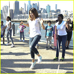 Daniella Monet: Double-Dutch at Mini-Triathlon Event!