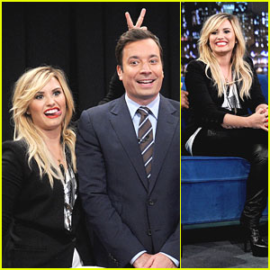 Demi Lovato Gives Jimmy Fallon Bunny Ears!