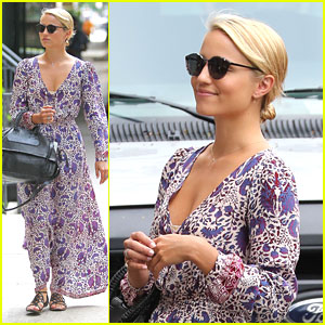 Dianna Agron: Pretty Printed Maxi in NYC