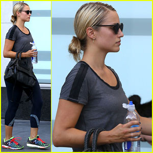 Dianna Agron: Soul Cycle Sunday