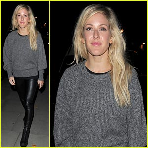 Ellie Goulding: Leather Pants in London