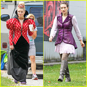 Sophie Lowe & Emma Rigby: In Costume on 'Wonderland' Set
