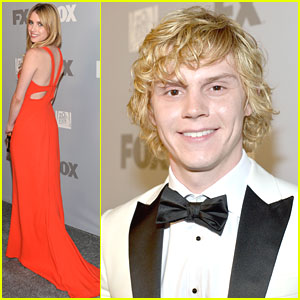 Emma Roberts & Evan Peters: Fox Emmy Party Pair