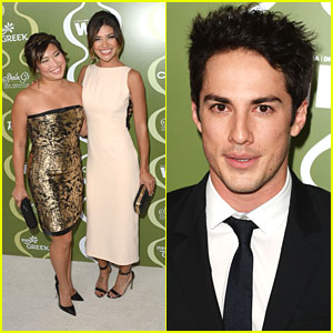 Jenna Ushkowitz & Jessica Szohr: Variety & Women in Film Pre-Emmy Party Pair