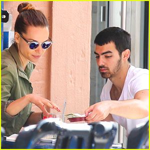 Joe Jonas & Blanda Eggenschwiler: Cafe Gitane Couple