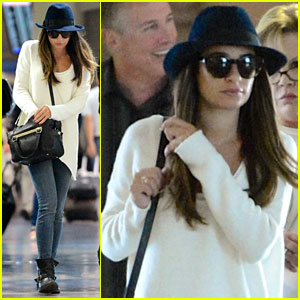 Lea Michele Back in L.A. After Filming 'Glee' in NYC