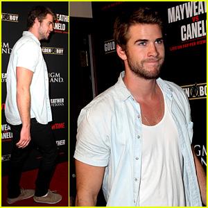 Liam Hemsworth Attends Mayweather vs. Alvarez Fight!