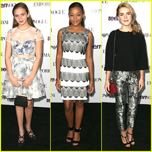 Kiernan Shipka & Morgan Saylor - Teen Vogue Young Hollywood Party 2013