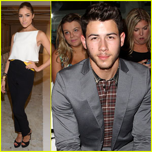 Nick Jonas & Olivia Culpo Hit New York Fashion Week