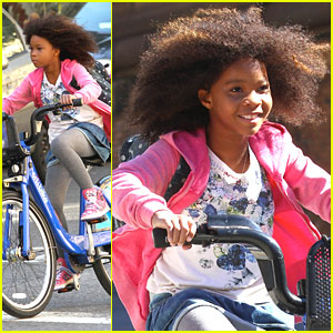 Quvenzhane Wallis: 'Annie' Bike Ride
