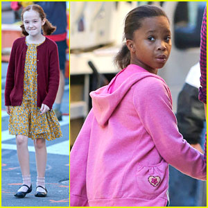 Quvenzhane Wallis: First Day on 'Annie'!
