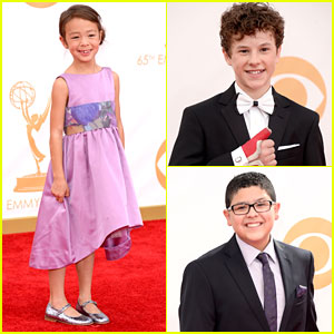 Nolan Gould: Broken Hand at Emmy Awards 2013