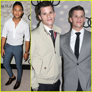 Tahj Mowry & Max & Charlie Carver: Emmys 2013 Kick-Off Party