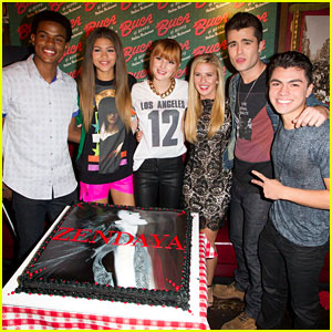 Zendaya: Album Launch Party with 'Shake it Up' Cast & Friends!