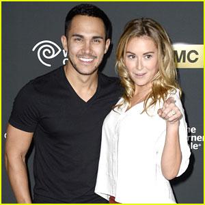 Alexa Vega & Carlos Pena: 'The Walking Dead' Premiere Pair