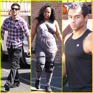 Amber Riley: Knee Braces for DWTS Practice