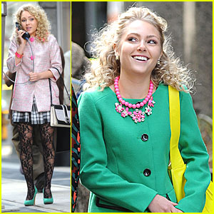 AnnaSophia Robb: The Girl In The Green Coat for 'Carrie Diaries'